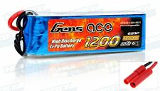 Gens Ace 1200mah 22.2V 40c Lipo Battery Pack for T-REX 450 and compatible Heli's