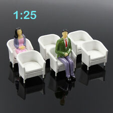 6pcs Model Train Railway Leisure Chair Settee Bench Scenery Layout 1:25 G Scale