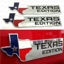 (2) Chrome ABS TEXAS Edition Map Emblems BADGE For Chevrolet SIERRA Silverado GM
