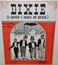 1936 Dixie  ( I Wish I Was in Dixie ) Dan Emmett Sheet Music - - FREE SHIPPING