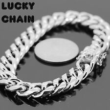 "8.5""STAINLESS STEEL SILVER MIAMI CUBAN LINK BRACELET 10mm 45g R530"