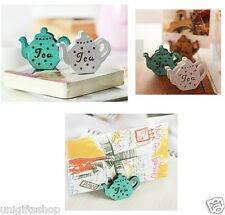 3 Sets of Tea Pot shaped Memo Clips  for Displaying Photos or Number Cards