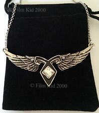 MORTAL INSTRUMENTS INSPIRED WINGED ANGELIC POWER RUNE NECKLACE ANGEL WINGS CLARY