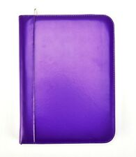 A4 Purple Deluxe Leather Look Business Conference Ring Binder Portfolio CL-731PE