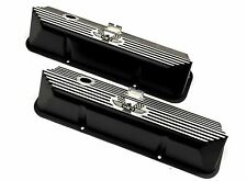 Brand New Ford FE 427 American Eagle Deep Engraved Black Valve Covers