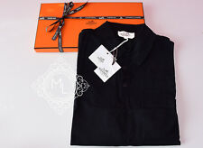NEW HERMES 40% OFF MENS SPORTS BLACK POLO SHIRT L LARGE SWEATER TOP JACKET KNITS
