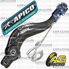 Apico Black Blue Rear Brake Pedal Lever For KTM EXC-F 400 2013 MotoX Enduro