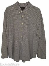 A&F Abercrombie Mens Plaid Cotton Long Sleeve Button Down Shirt Pocket Large L