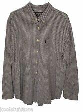 A&F Abercrombie Mens Plaid Cotton Long Sleeve Button Down Shirt Pocket Large L