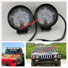 2x 18W Off-Road Spot Round LED Work Light Fog Driving Lamp TRUCK UTE 4WD BOAT