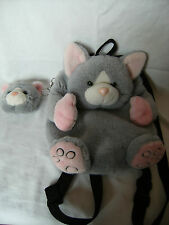 """Jade 13""""  Cat back pack and matching 5"""" purse  Very Cute in VGC"""