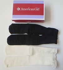 NEW NIB Authentic American Girl Doll Beige Off White and Black Tights Stockings