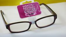 New $19.99 Foster Grant Designer Women Reading Eyeglasses-+2.50-Victoria Red