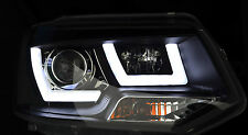 "LED DRL BLACK HEADLAMPS ""EAGLE EYE"" HEADLIGHTS FOR VW VOLKSWAGEN T5 TRANSPORTER"