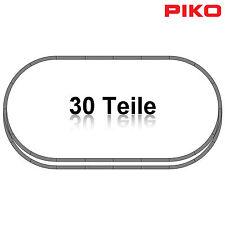 PIKO 55340-S1 H0 Gleis-Set 30-teilig mit 2 Bogenweichen ++ NEU ++