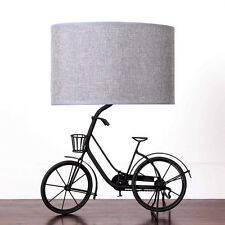 Shabby Chic Unique Metal Bicycle Table Lamp  Large 40cm Grey bedroom Vintage
