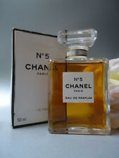 CHANEL No5 PERFUME EDP 50ml VINTAGE 1980s-90s NEW SEALED BOX + CHANEL GIFT WRAP