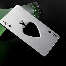 Playing Card Ace of Spades Poker Bar Tool Bottle Soda Beer Cap Opener Gift WW-A