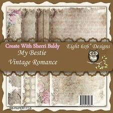 "NEW My-Besties SCRAPBOOK CARD PAPER PACK SET 6 X 6"" VINTAGE ROMANCE free us ship"