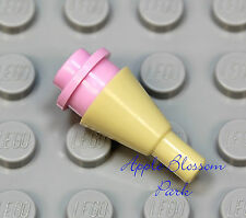 NEW Lego Minifig PINK ICE CREAM Scoop w/Tan Cone - Girl Friends Minifigure Food