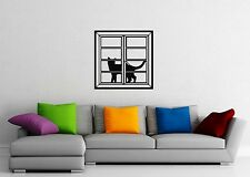 Wall Stickers Vinyl Decal Cat Window Home Decor For Living Room ig1588
