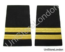 Epaulet Pilot Epaulette Sliders 2 Gold Bar Flight Engineer Black Cloth R1325