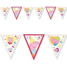 6.5ft Peppa Pig RED Birthday Party Pennant Flag Banner Bunting Decoration