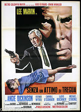 SENZA UN ATTIMO DI TREGUA MANIFESTO CINEMA LEE MARVIN 1967 POINT BLANK POSTER