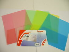 5 x Twin Folder A4 To A3 Assorted Colours 17325 Esselte 180 Microns File Wallet