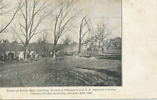 Moodus East Haddam CT * 1906 *Fire Ruins Music Hall Spencer Store * Middlesex Co