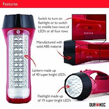 Rechargeable LED Torch Flashlight Lantern for Work Garage Home Garden Car Office