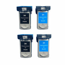 Ink Cartridges for Canon PG-30 (2 Black) CL-31 (2 Color) Canon Printer