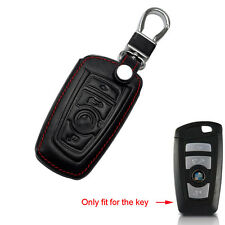 Black Leather Remote Smart Key Chain Cover Case Holder For BMW 2 5 7 Series X3