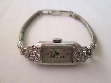 Antique Art Deco Unicorn Rolex Platinum And White Gold Diamond Ladies Watch.