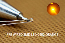 T0402OR 20pcs Pre-soldered micro litz wired leads ORANGE SMD Led 0402 NEW