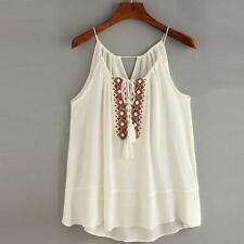 Women Cotton Lace Sexy Vest Tops Sleeveless Shirt Blouse Casual Tank Top T-Shirt