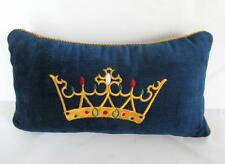 CJC St Simons Island GA Embroidered Crown Throw Accent Pillow Silk Velvet