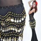 Fine Golden Coin Belly Dance Hip Scarf Wrap Belt Dancer Skirt Costume Belt