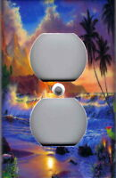 TROPICAL OCEAN SUNSET - TROPICAL HOME WALL DECOR OUTLET COVER