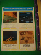 4 Environmental Stickers: 1998 National Geographic Society ~ Yellowstone, Giraff