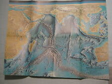 VINTAGE INDIAN OCEAN FLOOR WALL MAP National Geographic October 1967 MINT