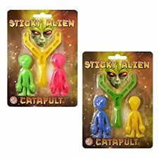 Sticky Alien catapulta eslinga de Tiro Tirador Slingshot Party Bag Favor Filler favor