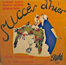 ++HENRI POUSSIGUES/ROBIN/ALTERY/REAL succès d'hier BOREL LP 25cm PATHÉ RARE++