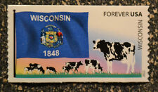 2012USA #4330  Wisconsin State Forever Flags of our Nation  Mint NH dairy cows