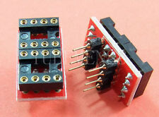2 pcs Gold plated DIP to DIP Dual to Mono Opamp PCB for NE5534 OPA627 OPA2604