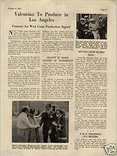 1924 PAPER AD Rudolph Valentino To Produce In LA Boxer Jim Corbett MGM Article