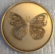 Butterfly Serenity Prayer Bronze AA Al-Anon Medallion Coin Recovery Chip