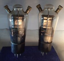 Pair Philips TC04/10-02 Triode Power Tube Senderöhren Holland 4Volt 1.1 Amp