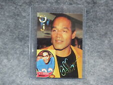 O.J. Simpson Gold Facsimile Signature Card Photograph Buffalo Bills Running Back