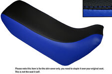 ROYAL BLUE & BLACK CUSTOM FITS HONDA XL 600 LMF DUAL LEATHER SEAT COVER
